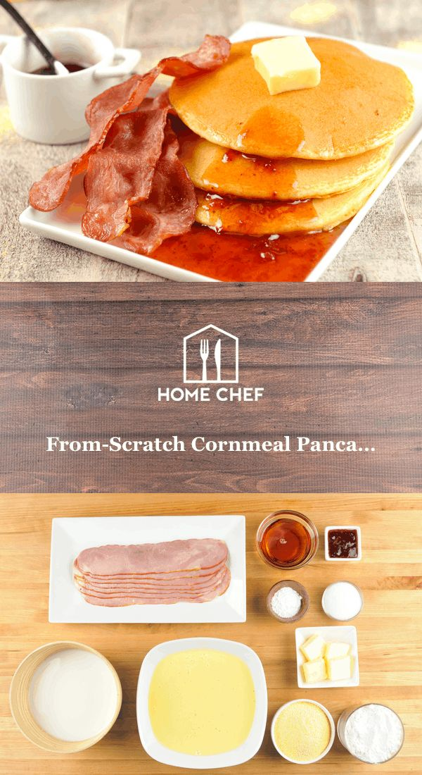 We have nothing against good old pancakes and maple syrup, the stalwart stacks that are a tentpole of the breakfast table. This version substitutes half of the flour with cornmeal to give these flapjacks a wonderfully grainy texture. Topping the whole thing off with strawberry preserves, and serving up a side of turkey bacon, makes this breakfast familiar, satisfying, and refreshing.