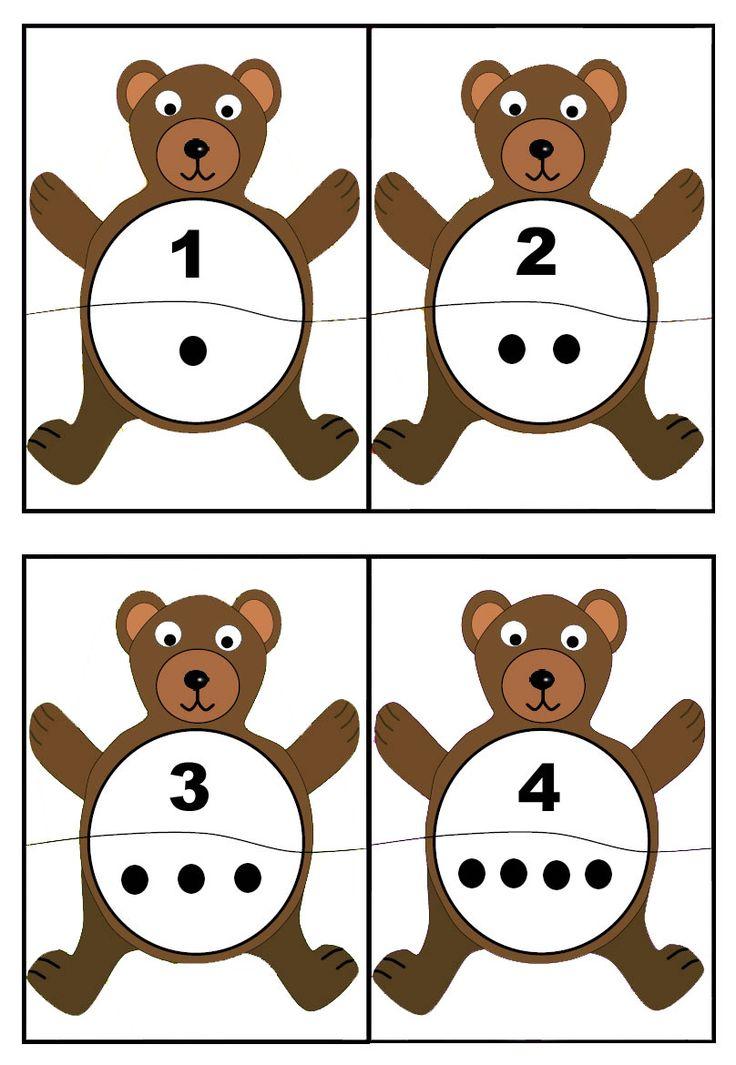 Rompecabezas para aprender los números. Material para imprimir gratis.