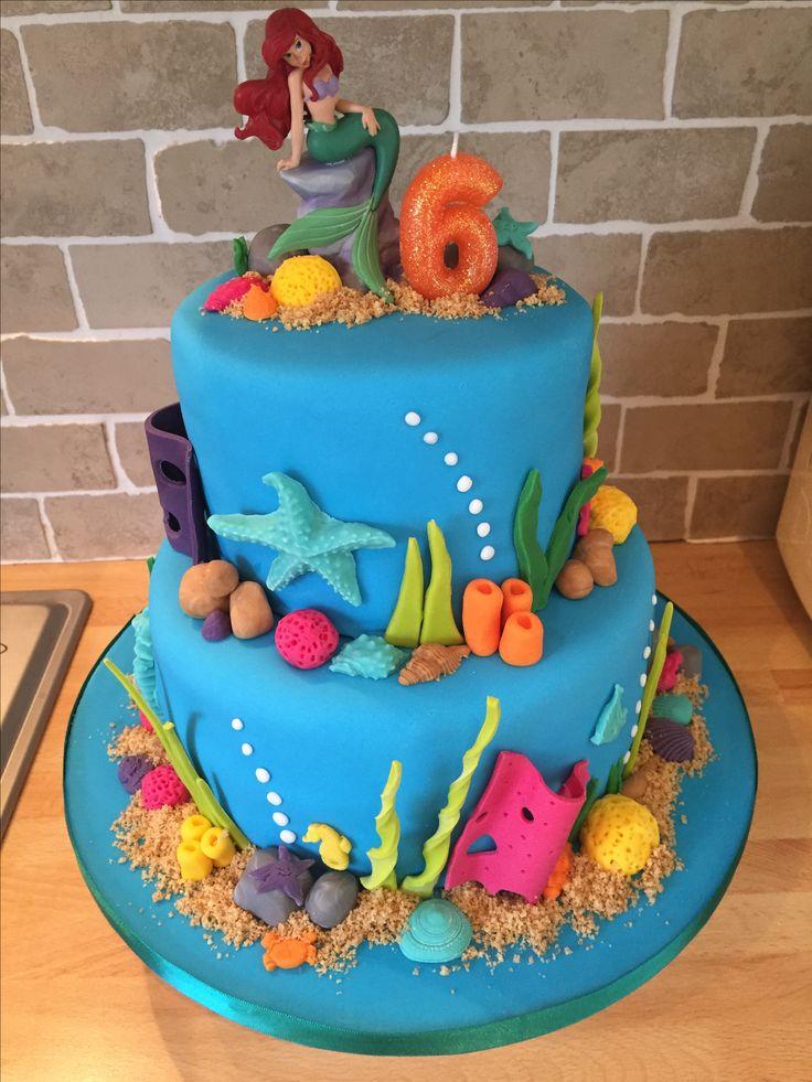 Ariel/little mermaid cake for Freya's 6th birthday