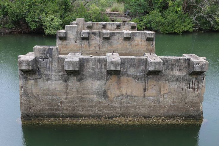 Ruins of what once was a bridge. Cairns.