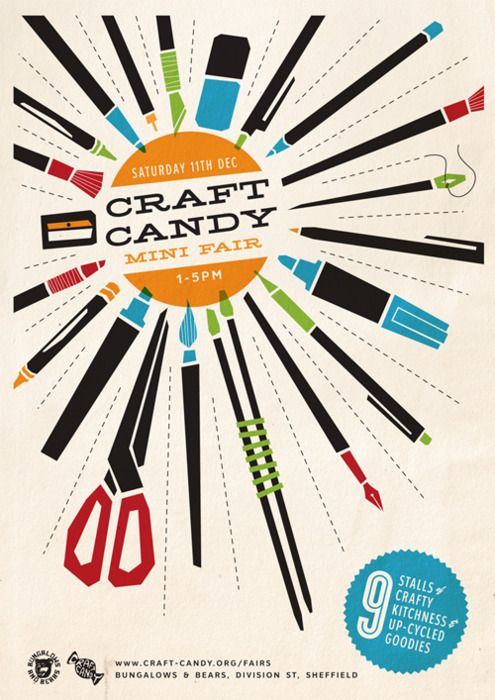 indie art, craft & market posters - http://iinecheck-in.com/listings/category/crafts/