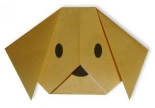Простые оигами для малышей - собака