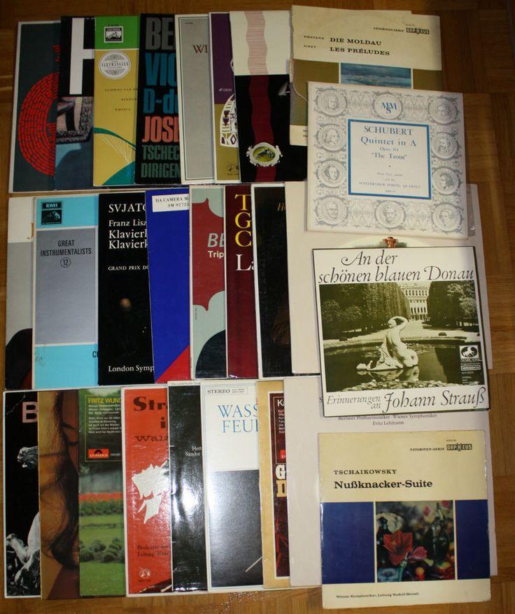 26x 12  Vinyl Collection KLASSIK - SCHUBERT / BEETHOVEN / TSCHAIKOWSKY