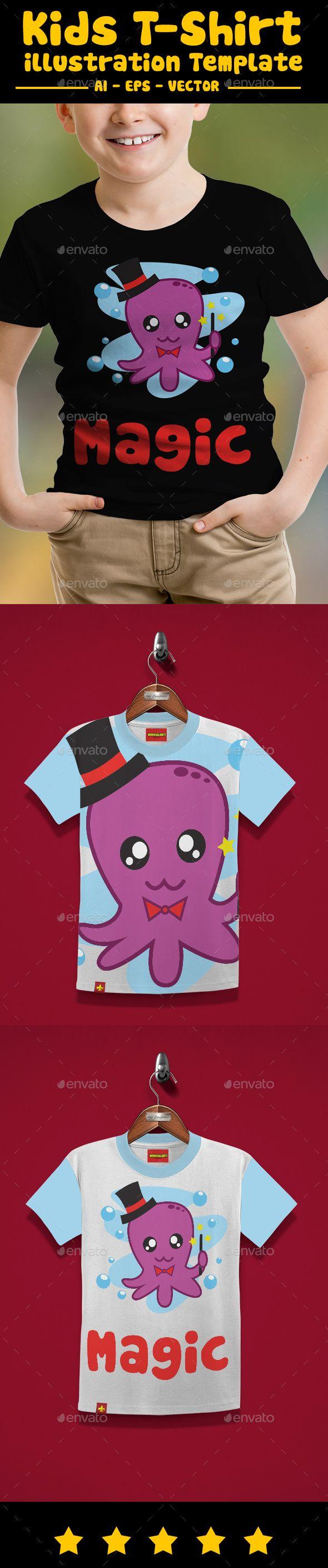 Shirt design octopus - Octopus Kids T Shirt Design T Shirts