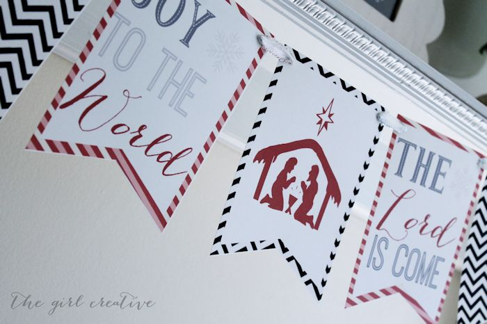 Joy to the World Banner {Free Printable} - The Girl Creative