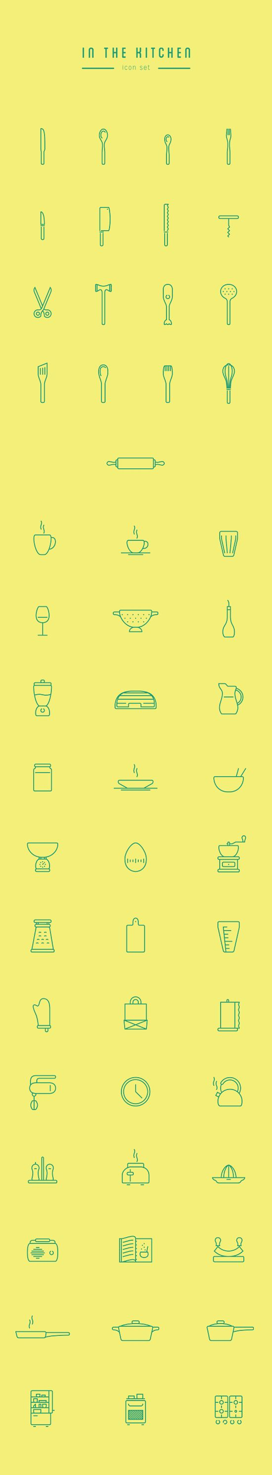 In The Kitchen – Free Icon Set by Wojciech Zasina