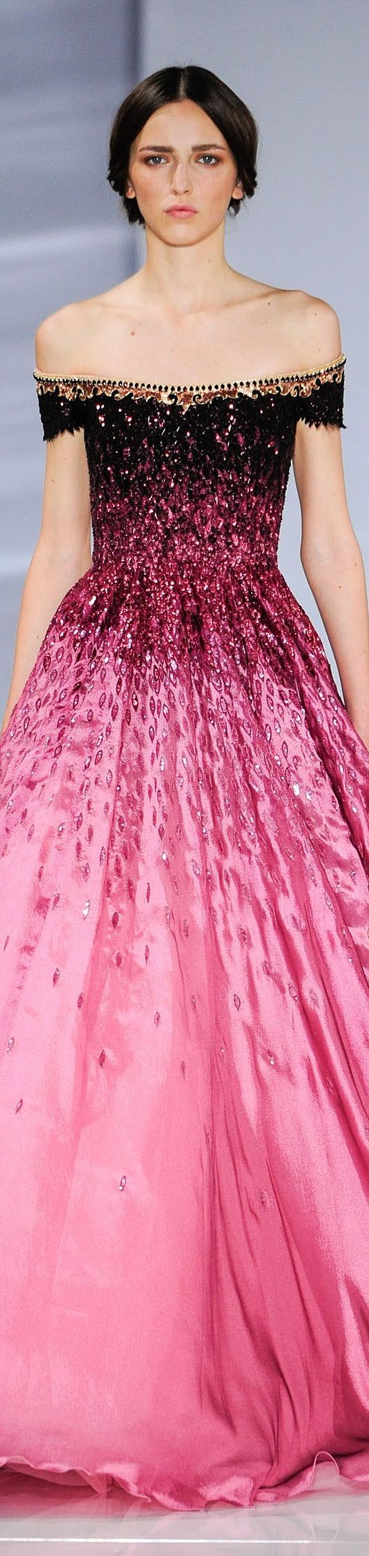 GEORGES HOBEIKA fall 2015 couture 1000 Petaled Strokes