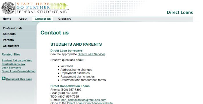 Direct Loans Email