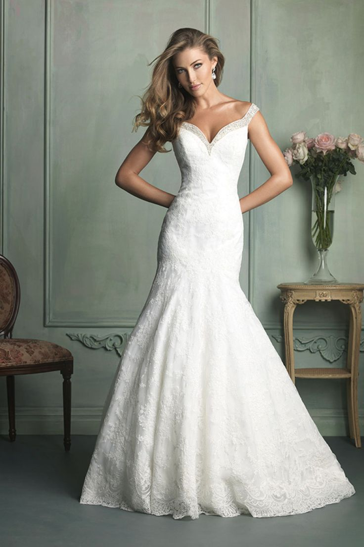 2014 Off The Shoulder Mermaid Lace Wedding Dress Court Train Beaded Neckline USD 259.99 EPP1MJAQL2 - ElleProm.com -  For more amazing deals visit us at http://www.brides-book.com/#!brides-book-outlets/ck9l and remember to join the VIB Ciub