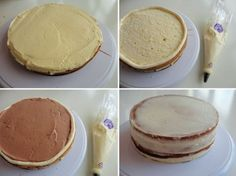 Vullen van een taart met botercrème en taartvulling | Taarten maken, taart bakken en cupcakes versieren | Taart recepten