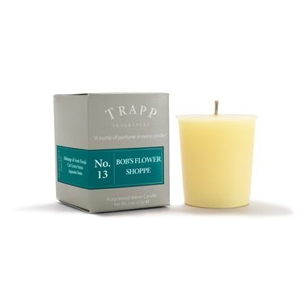 No 13 Bob's Flower Shoppe - 2oz Votive Candle | Trapp Candles