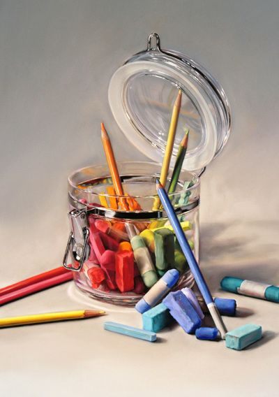 Pastel and oil still life paintings by artist Lisa ober