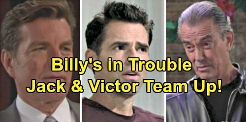The Young and the Restless Spoilers: Jack and Victor Team Up to Take Down Billy – The Moustache Up To His Old Tricks? | Celeb Dirty Laundry