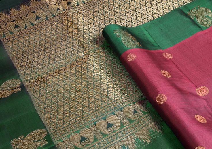 peacock motifs and pallu designs makes it a classic saree.