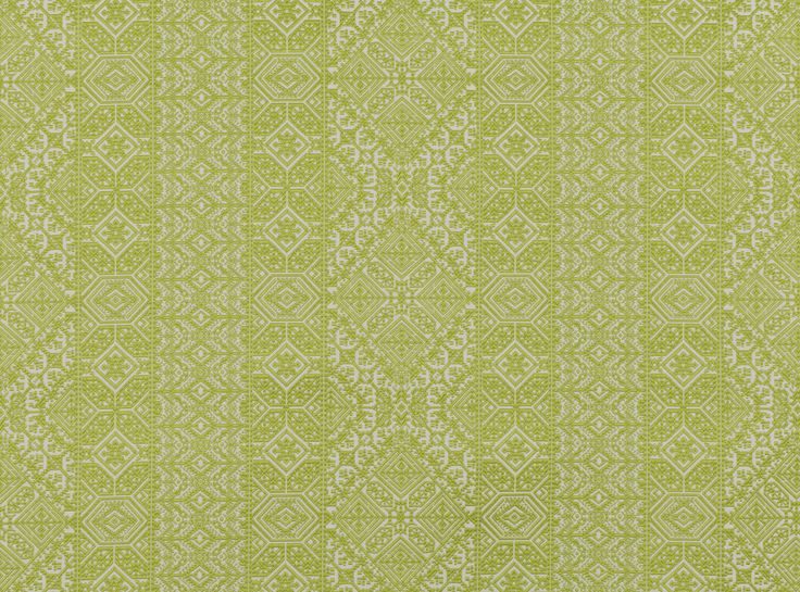 A complex fretwork adapted from a vintage Moroccan textile, jacquard woven with an embroidered effect. Jacquard Weave Designer Fabrics & Wallcoverings, Upholstery Fabrics