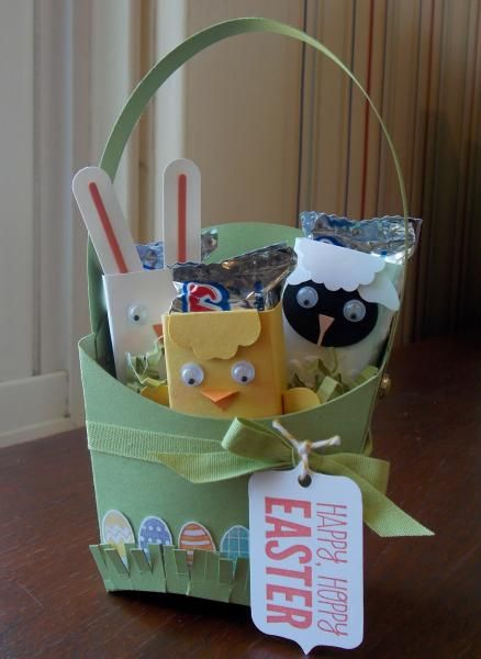 FRY BOX EASTER BASKET: by happystamper09 - Cards and Paper Crafts at Splitcoaststampers