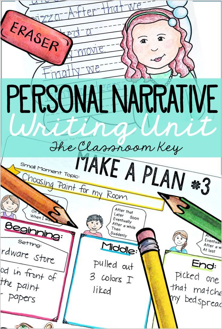 Personal Narrative Writing Unit for 2nd or 3rd Grade | The Classroom