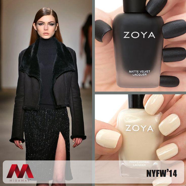 Rolando Santana, NYFW 2014'de defilesini en moda renklere sahip Zoya ojeler ile sergiledi.