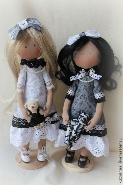 Коллекционные куклы ручной работы. Ярмарка Мастеров - ручная работа Текстильные куклы HOLLY & BELLA. Handmade.