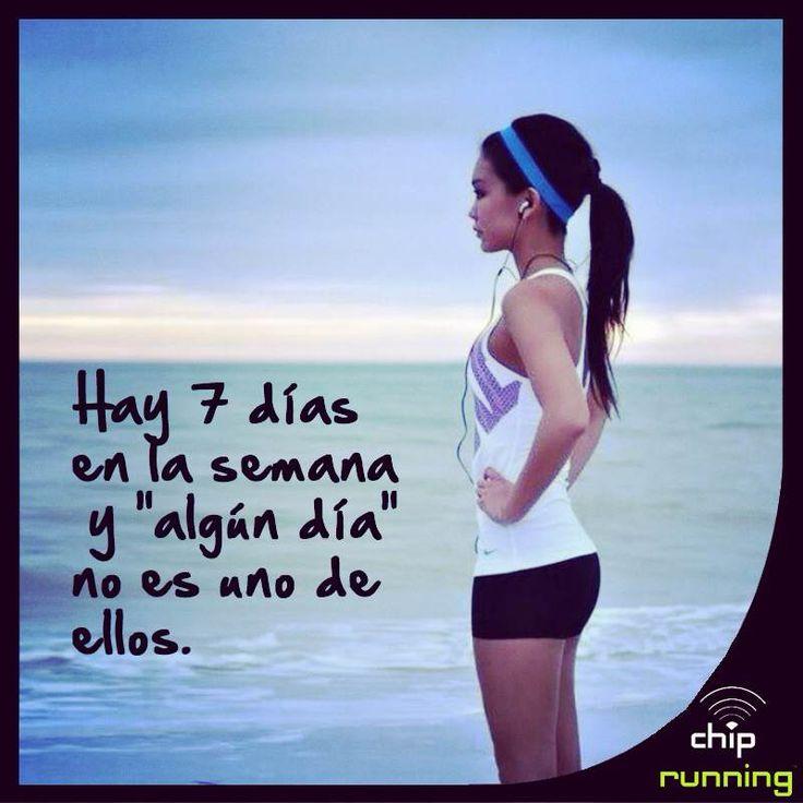 """¿Cuando estás planeando hacer un esfuerzo? Esperamos que no sea """"algún día"""".  ;) #deporte #motivación"""