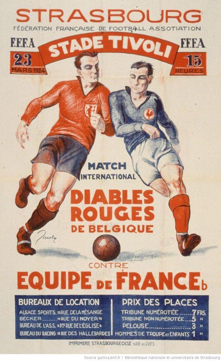 Partido de Fútbol Francia-Bélgica en Estrasburgo 1924