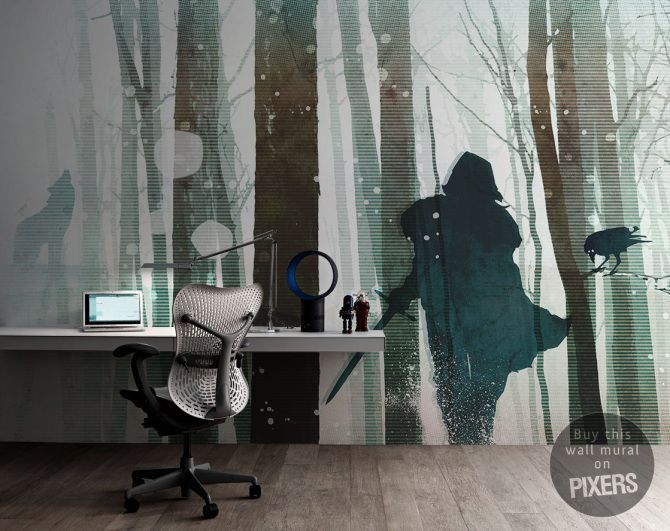 Wall Mural Winter Is Coming - inspiration wall mural, interiors gallery• PIXERSIZE.com