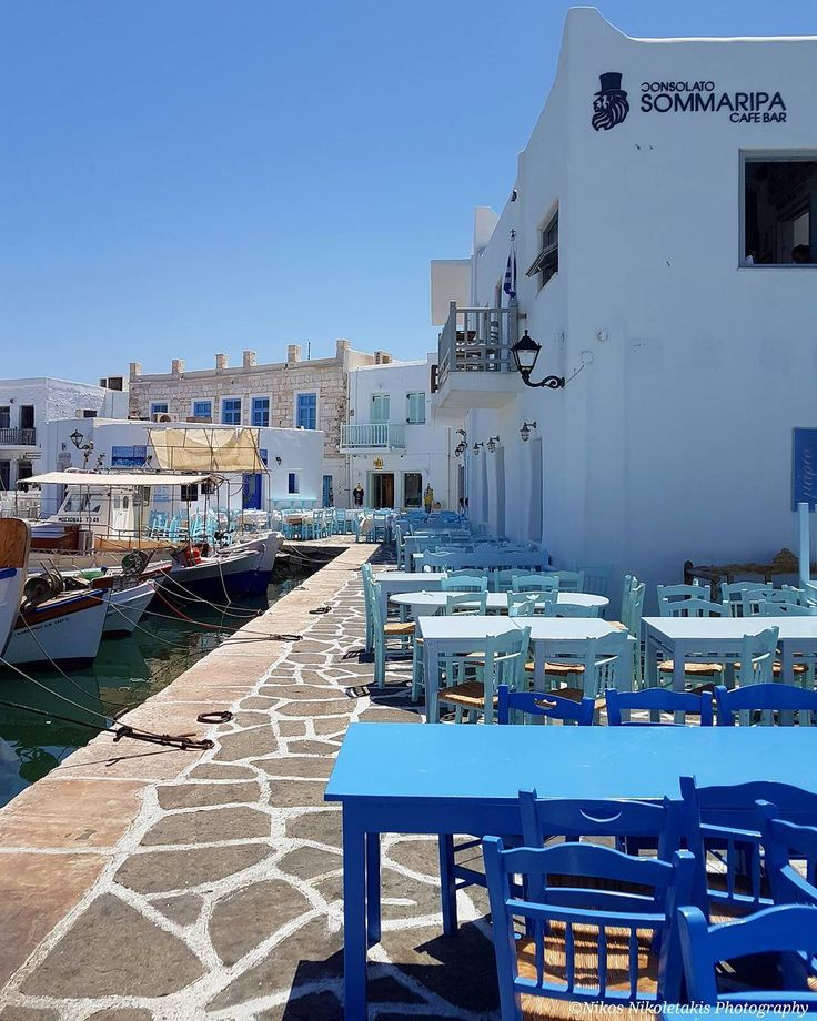 Paros island: The picturesque port of Naousa in the morning. Looks so calm and quiet. Happy weekend!