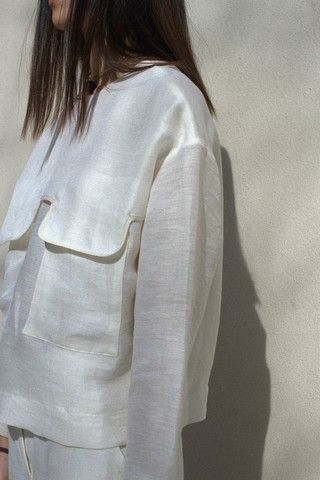Nanushka Binx Linen Top,