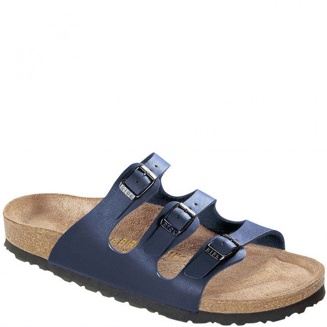 554711 Birkenstock Women's Florida Soft Footbed Sandals - Navy  www.bootbay.com