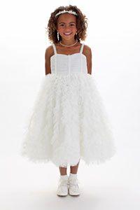 Flower Girl Dresses - Sweet Pattis Dress Style 106 IVORY- SALE- Sizes 2,4,10 or 12