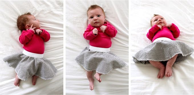 Celebrate BABY—TUTORIAL and PATTERN: little baby circle skirt – MADE EVERYDAY