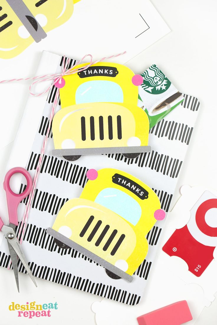 Use this free template to make your own printable gift card holder. Perfect for teacher gifts year-round - whether it be back to school, teacher appreciation, or end of year!