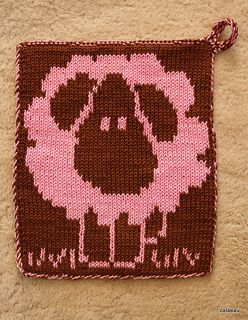 Sheep Square/Cloth/Double knitting!!! Too cute!!
