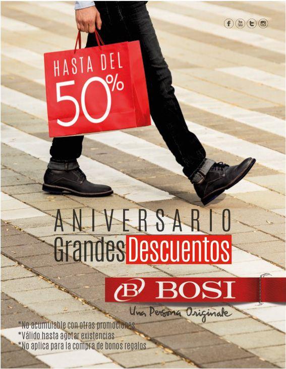 BOSI está de Aniversario #GrandesDescuentos 10% 30% y hasta 50% / Alamedas CC #Piensaenti