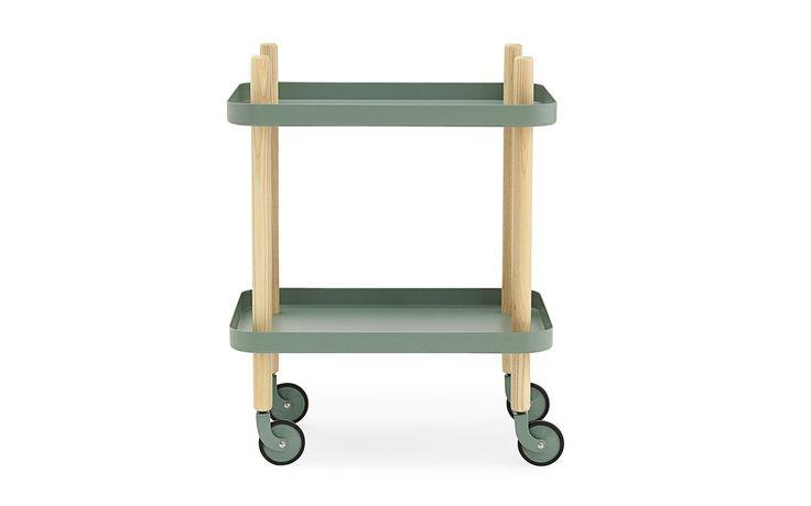 Block side table dusty green – a versatile furniture piece