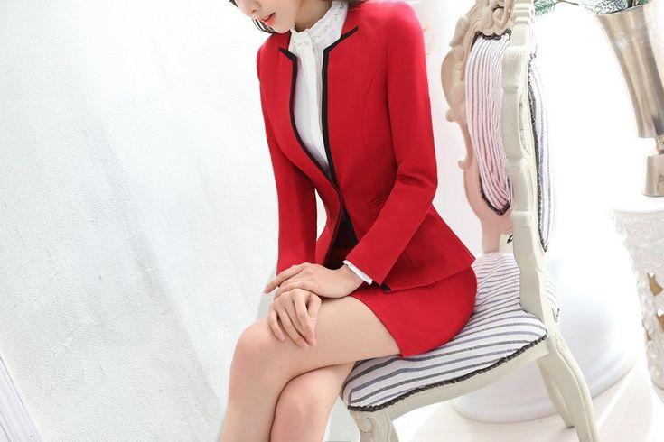Aliexpress.com: Comprar Nueva llegada 2016 del otoño invierno largo manga elegante OL rojo estilos profesional de empresas Blazer chaquetas Coat Ladies Tops Blaser de chaqueta de los hombros fiable proveedores en Fashion beauty women's store