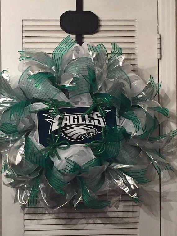 Philadelphia Eagles Deco Mesh Wreath by Gypsy505Soul on Etsy