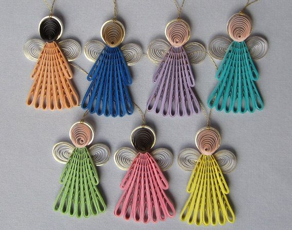 Quilling Angels Ornaments - All 7