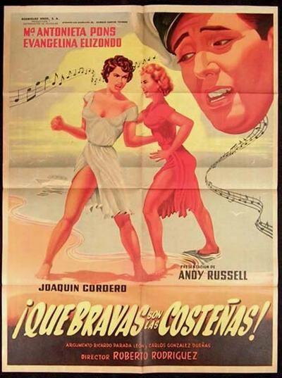La Rumbera Cubana, Maria Antonieta Pons, y la Mexicana Evangelina Elizondo. estrellas del Cine Mexicano. Poster