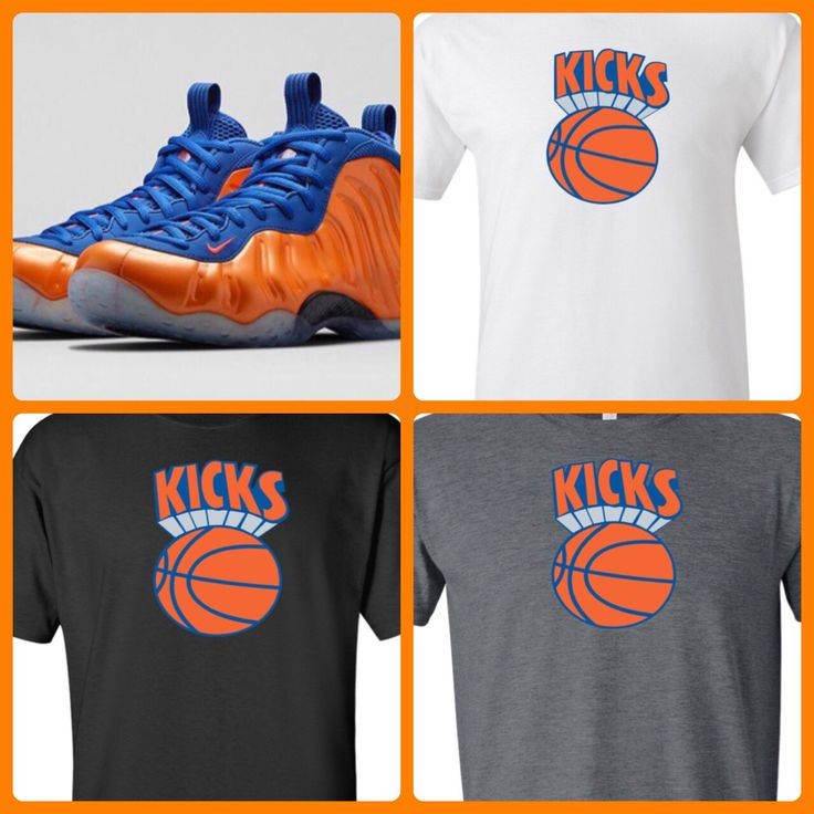 NIKE KNICKS FOAMPOSITES MATCHING SHIRT BY COP'EM CUSTOMS. Get one at cop-em.com