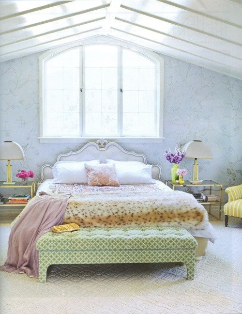 pretty bedroom - pastel colors  Interiors  Pinterest