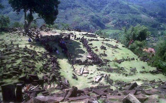 Megalithic sites, Gunung Padang, Cianjur-Indonesia.