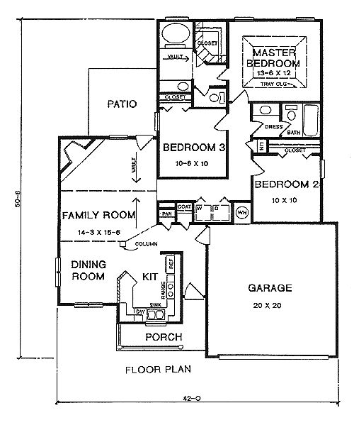 Most-popular ranch house plans - hpg-2402-1