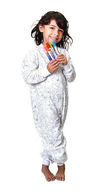Pijama, macacão pijama para colorir - Baby Fashion & Fun
