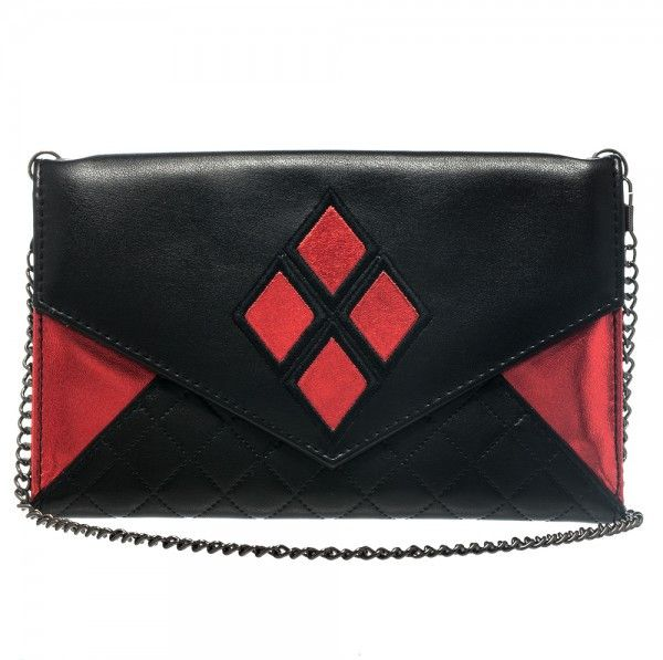 Harley Quinn:  Envelope Wallet With Chain - First Person Clothing  - 1