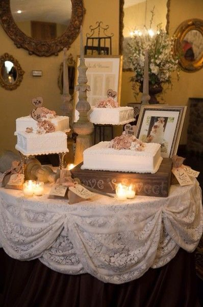 Love this table for the cake!! Love is sweet :) and maybe a photo of us with it.