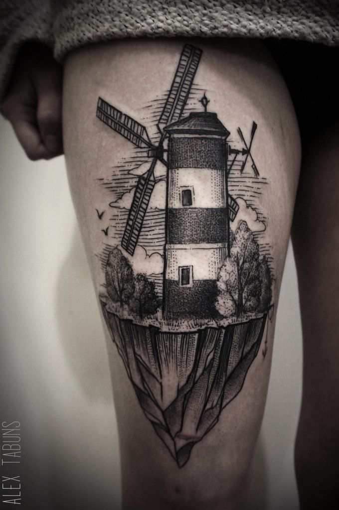 Alex Tabuns_ windmill tattoo