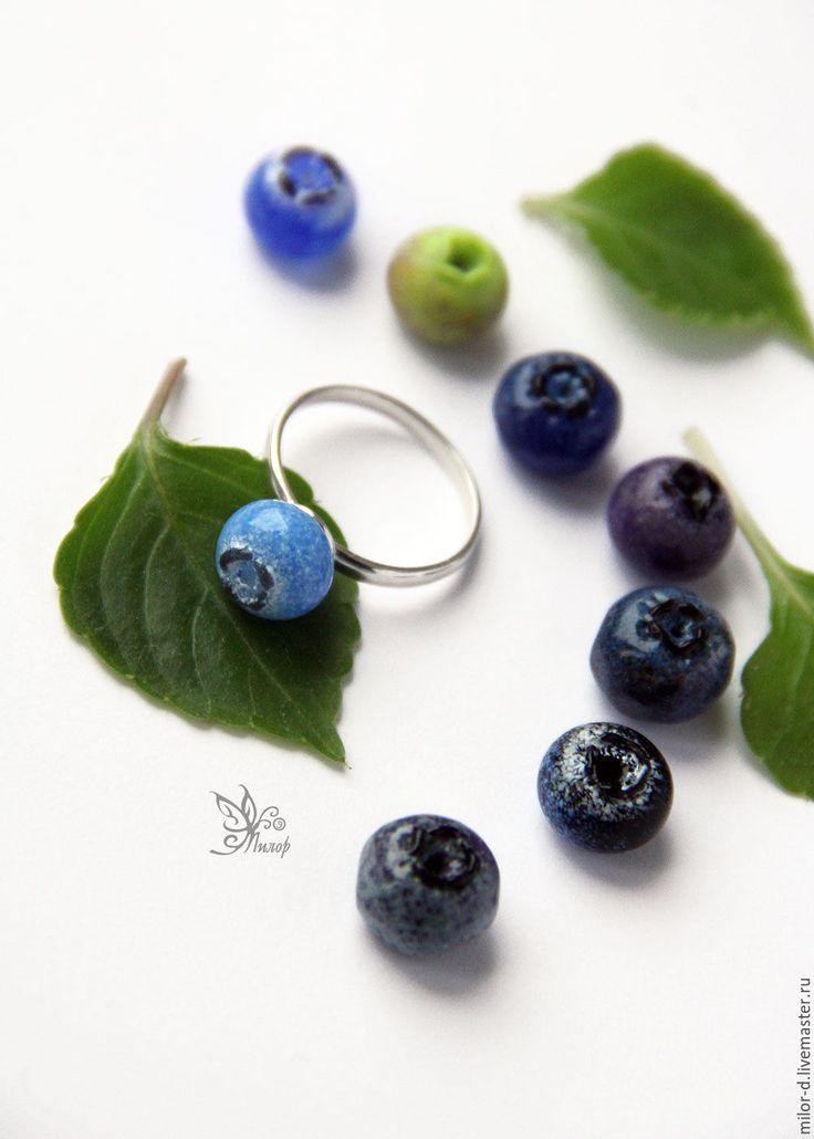 """Lampwirk ring Blueberry / Купить Кольцо """"Черничка"""". Серебро, авторский лэмпворк - необычное украшение, авторское кольцо, кольцо лэмпворк"""