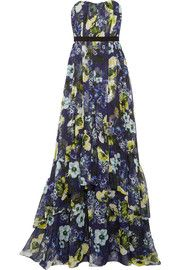 ErdemSimona floral-print silk-voile gown