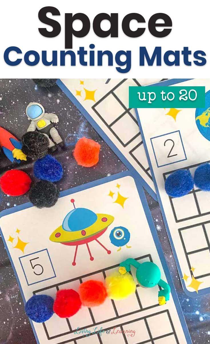 Space Counting Mats Up To 20 Space Activities For Kids Math Activities Preschool Kindergarten Activities [ 1200 x 735 Pixel ]